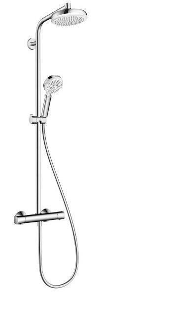crometta 160 showerpipe termostato ducha visto ecostat universal hansgrohe. Black Bedroom Furniture Sets. Home Design Ideas