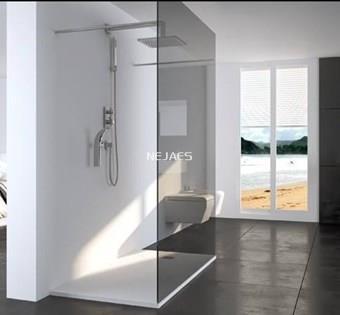 Plato de ducha extraplano de resinas cargas minerales 3 for Plato ducha plano