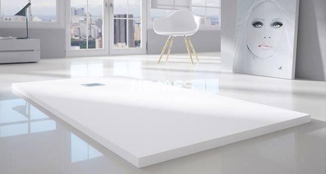 Plato de ducha extraplano de resinas cargas minerales 3 for Plato ducha 120x70