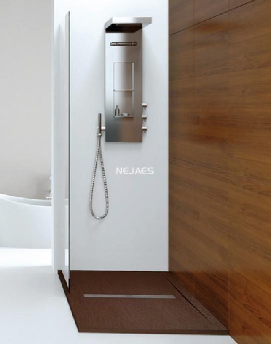 Plato de ducha extraplano de resinas cargas minerales 3cm for Plato ducha plano